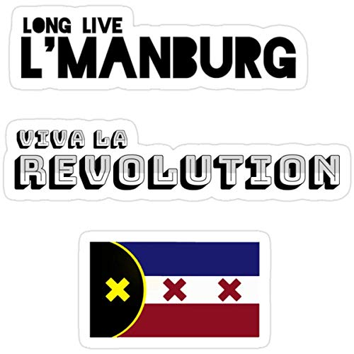 Stickers LManburg is The Best Books 3x4 Inch (3 Pcs/Pack) Wall Backpack Decals
