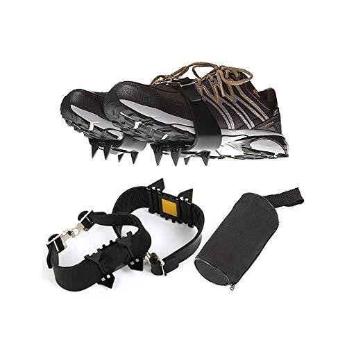 Hourongw 1 par de pinzas para zapatos, para escalada en hielo y nieve, antideslizantes, para hombres, mujeres y niños
