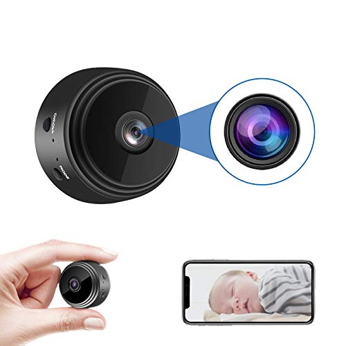 JMADENQ Spy Camera, Mini Hidden Cameras, Mini Camera HD 1080P with Night Vision and Motion, Activated Indoor Use Security Cameras, Surveillance Cam for Nanny Car Home Office