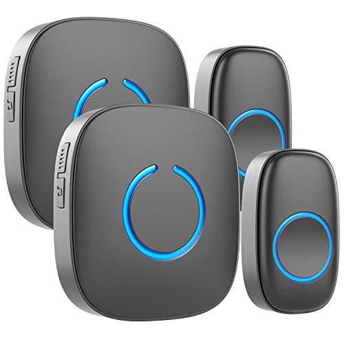 Wireless Doorbell by SadoTech - Waterproof Door Bells & Chimes Wireless Kit,1000-ft Range,52 Door...