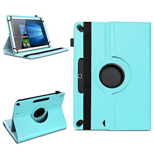 Tablet Tasche für 10 - 10.1 Zoll Hülle Schutzhülle Case Cover 360° Drehbar Neu, Farben:Türkis, Modell:ARCHOS 101b Xenon