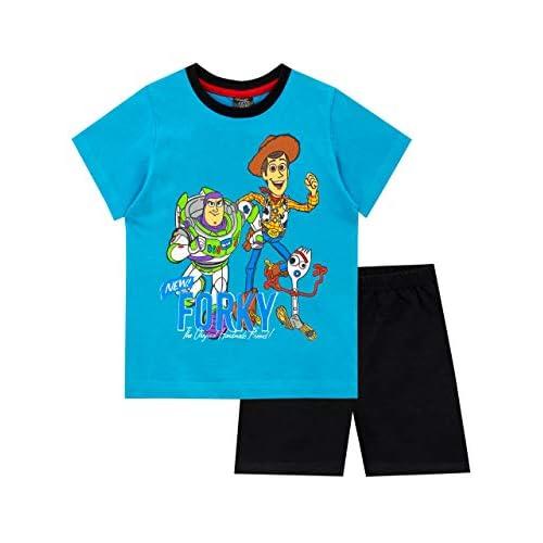 Disney Pigiama a Maniche Corta per Ragazzi Toy Story Blu 3-4 Anni