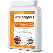 Co Enzyme Q10 300mg 60 Capsules - High Strength Suitable for Vegetarian & Vegan - UK Manufactured - CoQ10 Supplements