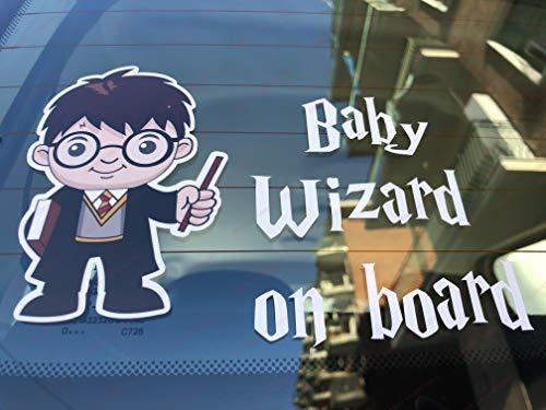 Adhesivo Baby Wizard On Board para coche (Harry Potter)