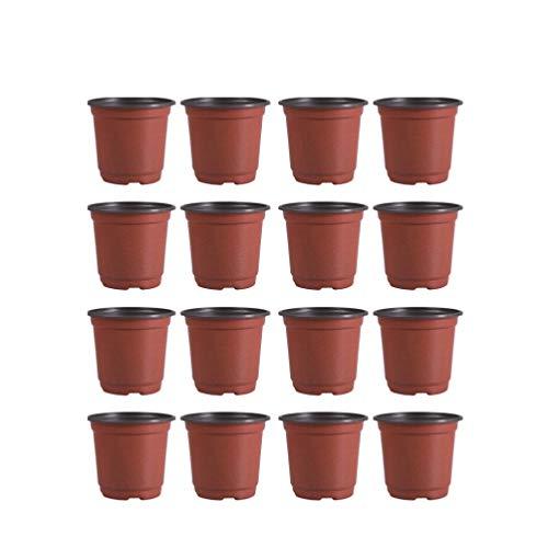 DOITOOL 30 Piezas Macetas de plástico de 15 cm para Plantas pequeña macetas de vivero de plástico para Plantas de Semillas Macetas para Flores y Plantas (Diámetro 150mm)