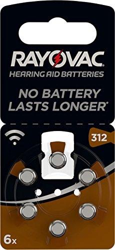 Batterij voor hoortoestellen 312 AU - Bruin Pack of 8