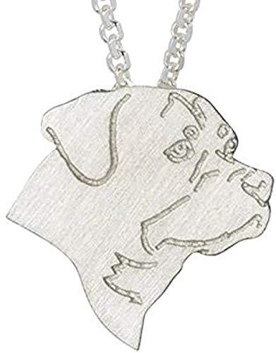 CAISHENY Clásico Hombres Mujeres Encanto Collar joyería Perro Cadena Collar Mascota Colgante Collar Regalo conmemorativo