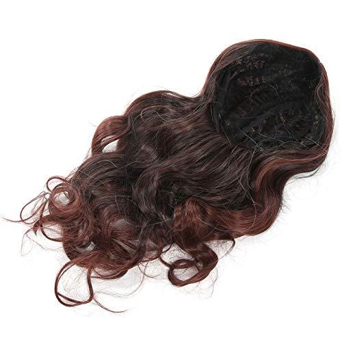 Peluca de pelo, peluca ondulada sintética resistente al calor transpirable para todos los días para fiestas de cosplay