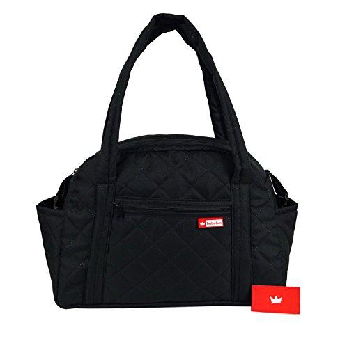 BabyLux Wickeltasche CANDY PIK Kinderwagentasche Baby Windel Tasche Pflegetasche (CandyPik Schwarz)