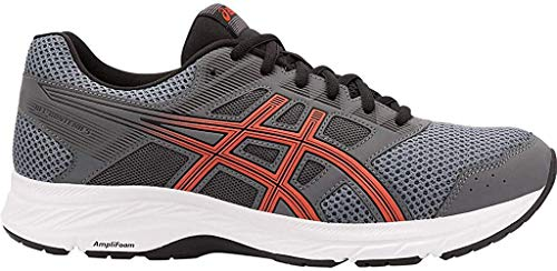 ASICS Men's Gel-Contend 5 Running Shoes, 11M, Steel Grey/RED Snapper