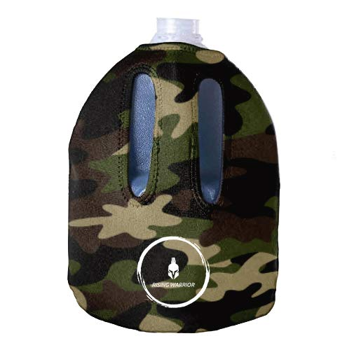 Rising Warrior Insulated Water Bottle Sleeve Holder | Jug Cover Fits Water Gallon | Portable Sports Bottle Accessory for Bodybuilding, Hiking, Outdoor Fitness | New & Improved Zipper