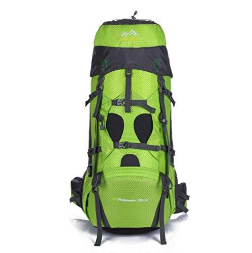 SZH&BEIB Sac à dos de randonnée très grande capacité 70 + 5L pour le sac de camping Voyage en plein air en nylon imperméable , B