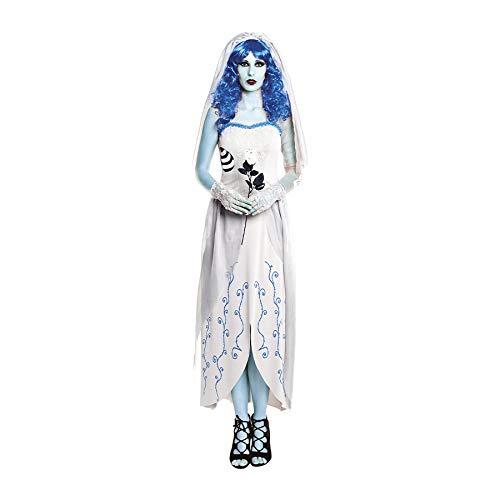 Disfraz de Novia Cadáver Blue Mujer (Talla S) Halloween