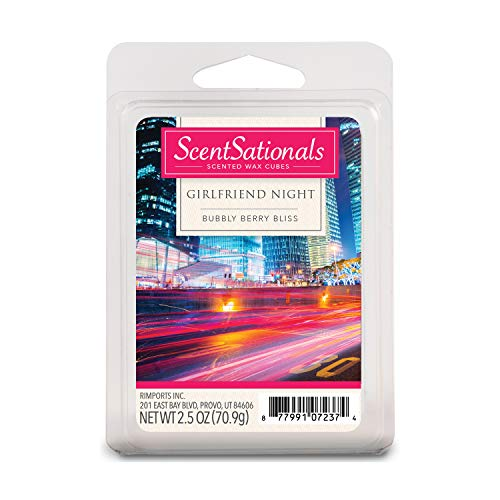 Scentsationals Scented Wax Cubes - Girlfriend Night - Fragrance Wax Melts Pack, Electric Home Warmer Tart, Wickless Candle Bar Air Freshener, Spa Aroma Decor Gift - 2.5 oz