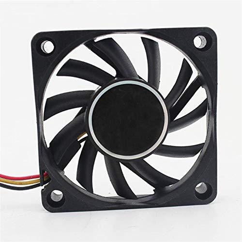 OLDJTK FD126010LB 6cm 60mm 6010 12V 0.14A Bola de cojinete Ordenador CPU 3 Pines silencioso Ventilador de refrigeración
