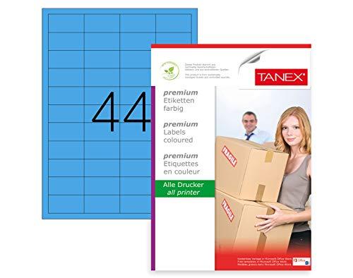 100 Etiketten 10 Blatt TANEX TW-2510 Universaletiketten weiß 105 x 56 mm