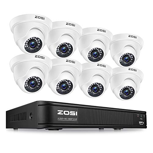 ZOSI H.265+ 1080p Home Security Camera System