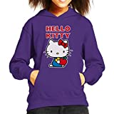 Hello Kitty Holding Apple Kid's Hooded Sweatshirt