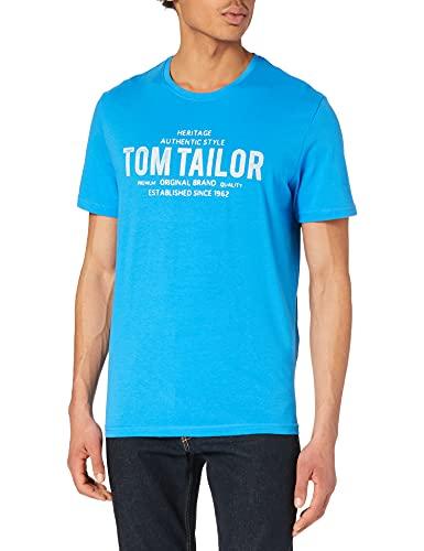 Tom Tailor 1026382 Logo Camiseta, Bright Ibiza Blue 26178-Juego de Mesa, L...