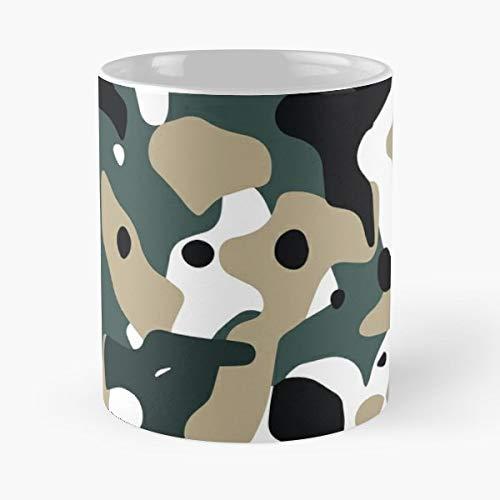 Military Camo Camouflage Snow Tree Shrubs - Funny Coffee Mug, Gag Gift Poop Fun Mugs