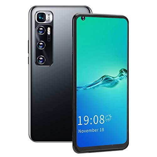 Teléfono con pantalla de 6.82 pulgadas, reconocimiento facial de 5Mp + cámara de 2Mp, resolución de 540X1200, teléfono inteligente con doble modo de espera, para regalo de(black)