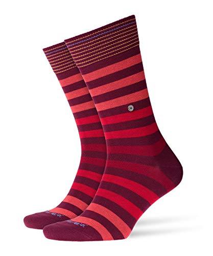 BURLINGTON Herren Socken Blackpool - 80{7fbf1854cc91c06946b685cc9eb8d11ab5d53576d645a84b4f47768bc31ac544} Baumwolle, 1 Paar, Rot (Coralred 8006), Größe: 40-46