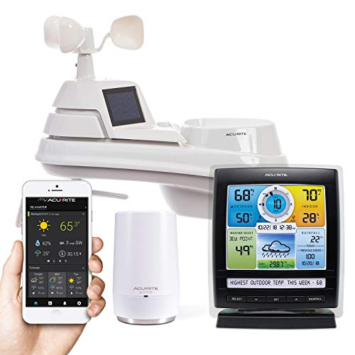 AcuRite Smart Weather Station with Remote Monitoring Compatible with Amazon Alexa (01012M), Internet Connected