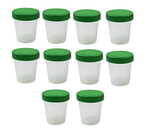 Ratiomed Urinbecher 100 Stück 125 ml mit Schraubdeckel grün