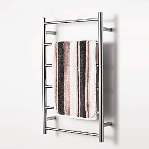 GenericBrands Handtuchwärmer, Elektrisch Handtuchheizkörper, Rostfreier Stahl Badheizkörper, Poliert, Plugin Handtuchhalter