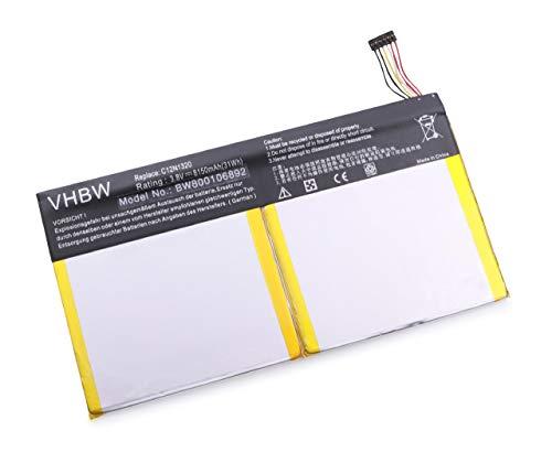 Batteria VHBW 8150mAh (3.8V) per Netbook Pad Tablet Asus Transformer Book T100, T100T, T100TA come C12N1320, C12-N1320.