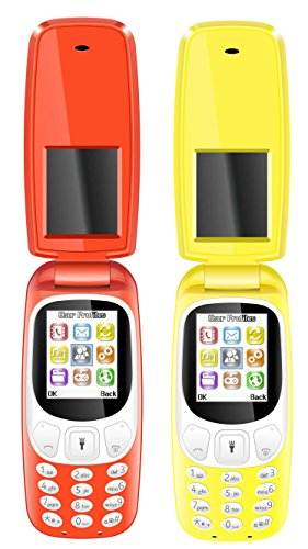 IKALL K3312 Combo (Red + Yellow) Dual Sim Flip Mobile with Vibration Feature, 1000 mAh Battery Capacity