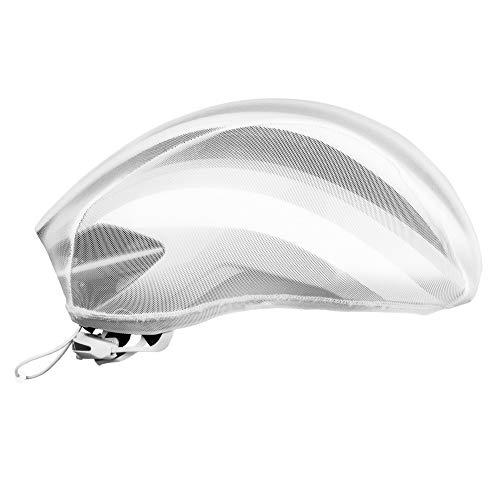 GripGrab Unisex– Erwachsene BugShield Fahrrad Fliegenschutz Helmüberzug Leichter Atmungsaktiver Radsport Insektenschutz Helmüberzieher, Weiß, OneSize