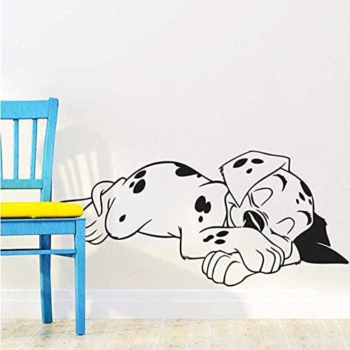 Etiqueta De La Pared Diy Mural Murales Papel Pintado Precioso Dulce Sueño Perros Pegatinas De Pared Cachorro De Mascota Vinilo Tatuajes De Pared Mural Guardería Niños Dormitorio Decoración