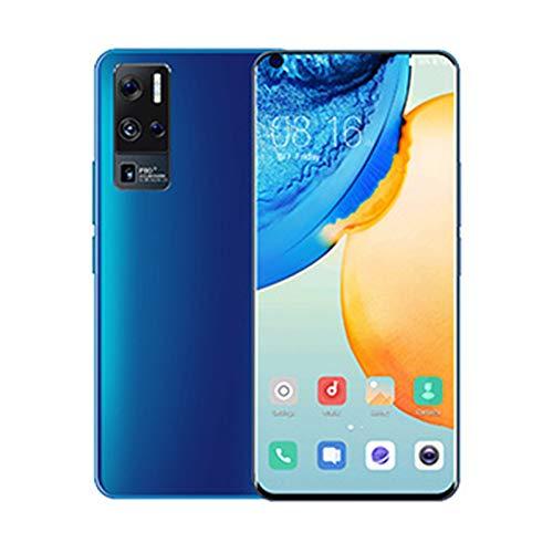Teléfonos Móviles SIM Gratis Desbloqueado, Teléfono Inteligente X50Por Android 10, 10 Núcleos, Cámara Trasera Triple de 48MP, 12GB RAM + 512GB ROM, Pantalla Waterdrop de 7.0 Pulgadas, Batería de 550