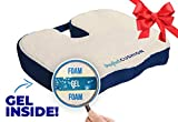 Perfect Cushion, Memory Foam & Gel Seat; Quality & Therapeutic Comfort Designed to Cradle & Support Your Body; Built in Carry Handle & Anti-Slip Bottom. Helps to relieve Back, Hip & Tailbone Pain