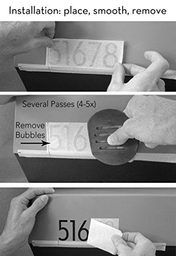 modbox USA Modern Mailbox Numbers, Custom Cut to Order, Set of 2 (Silver)