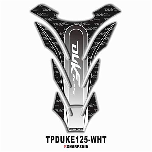 psler Motorrad 3D Tankpad Aufkleber für DUKE 125 (Weiß)