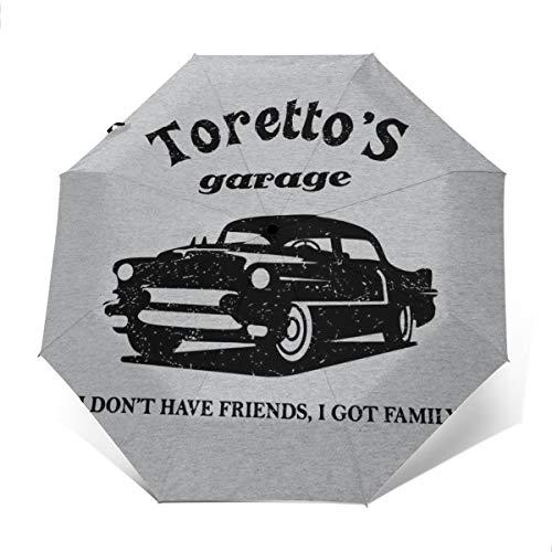 Paraguas Plegable de Apertura y Cierre automático, Plegable y automático, Resistente al Viento, de The Fast and The Furious Torettos Garage