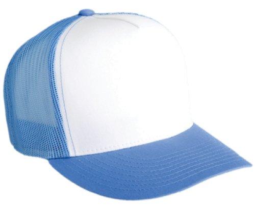 Flexfit Adjustable Snapback Classic Trucker Hat 6006 (C.Blue/Wht/C.Blue)