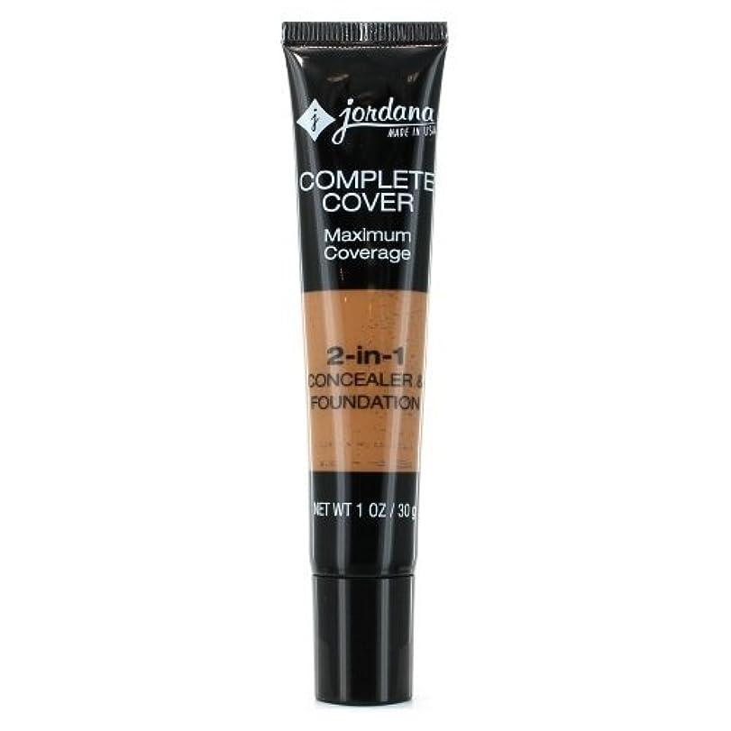 のどアブセイ扱いやすいJORDANA Complete Cover 2-in-1 Concealer & Foundation - Golden Caramel (並行輸入品)