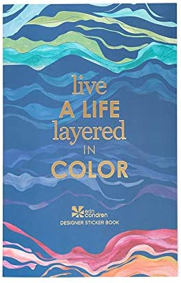 Erin Condren Layers Sticker Book 12 Sticker Sheets 529 Stickers Total Colorful Layers Design product image