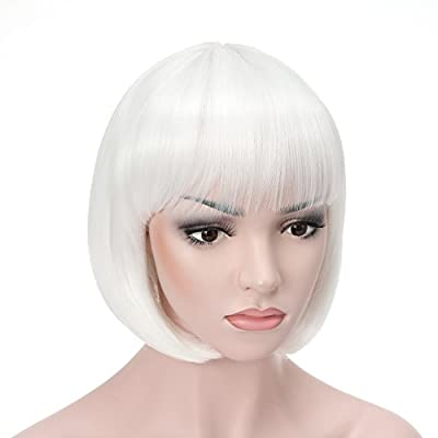 "OneDor 10"" Short Straight Hair Flapper Cosplay Costume Bob Wig"
