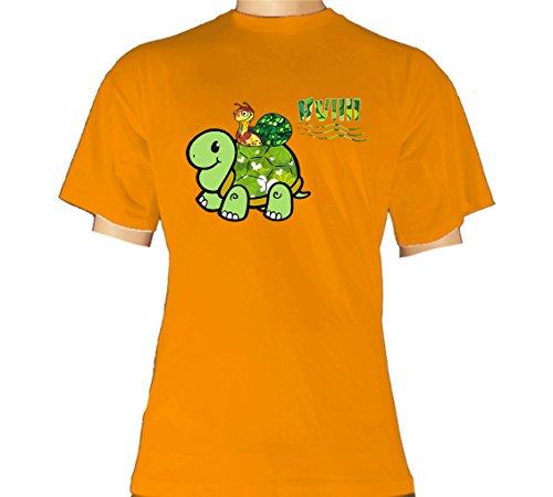 Fun T-Shirt - Schnecke Schildkröte Hui Tempo SWC Collection Apricot Größe XXL