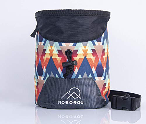 Noborou Chalk Bag for Rock Climbing + Crossfit + Weightlifting