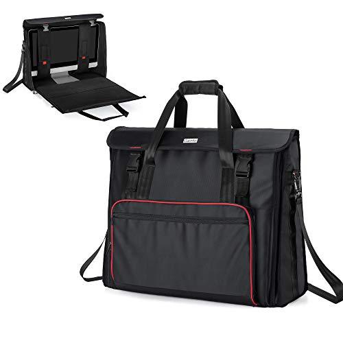 CURMIO Reisetasche für iMac, 27 Zoll Display-Computer Tragetasche, Aufbewahrungstasche für PC, Monitor, Tastatur, Kabel und Maus, Kopfhörer. (Leere Tasche), Schwarz