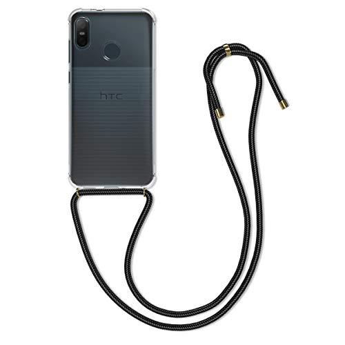 kwmobile Hülle kompatibel mit HTC U12 Life - mit Kordel zum Umhängen - Silikon Handy Schutzhülle Transparent