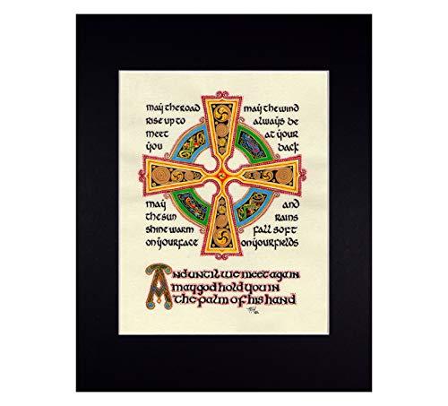 Irish Blessing Fine Art Print Reproduction with Celtic Cross
