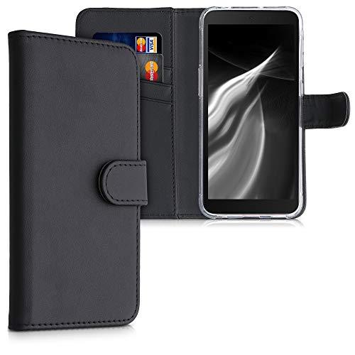 kwmobile Hülle kompatibel mit Samsung Galaxy Xcover 5 - Kunstleder Handyhülle mit Kartenfächern - in Schwarz