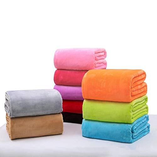 feilai Travel Supplies 70,1 x 100,1 cm warme Samt-Decke, doppelseitig, klimatisiert, solide Bettwäsche, Handtuch, Farbe: Hellviolett