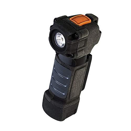 C-Xka Lampe de Poche magnétique Multi-usages à Pince arrière, lumière Dure Multi-usages, éclairage à Angle Droit AA DE 75 lumens